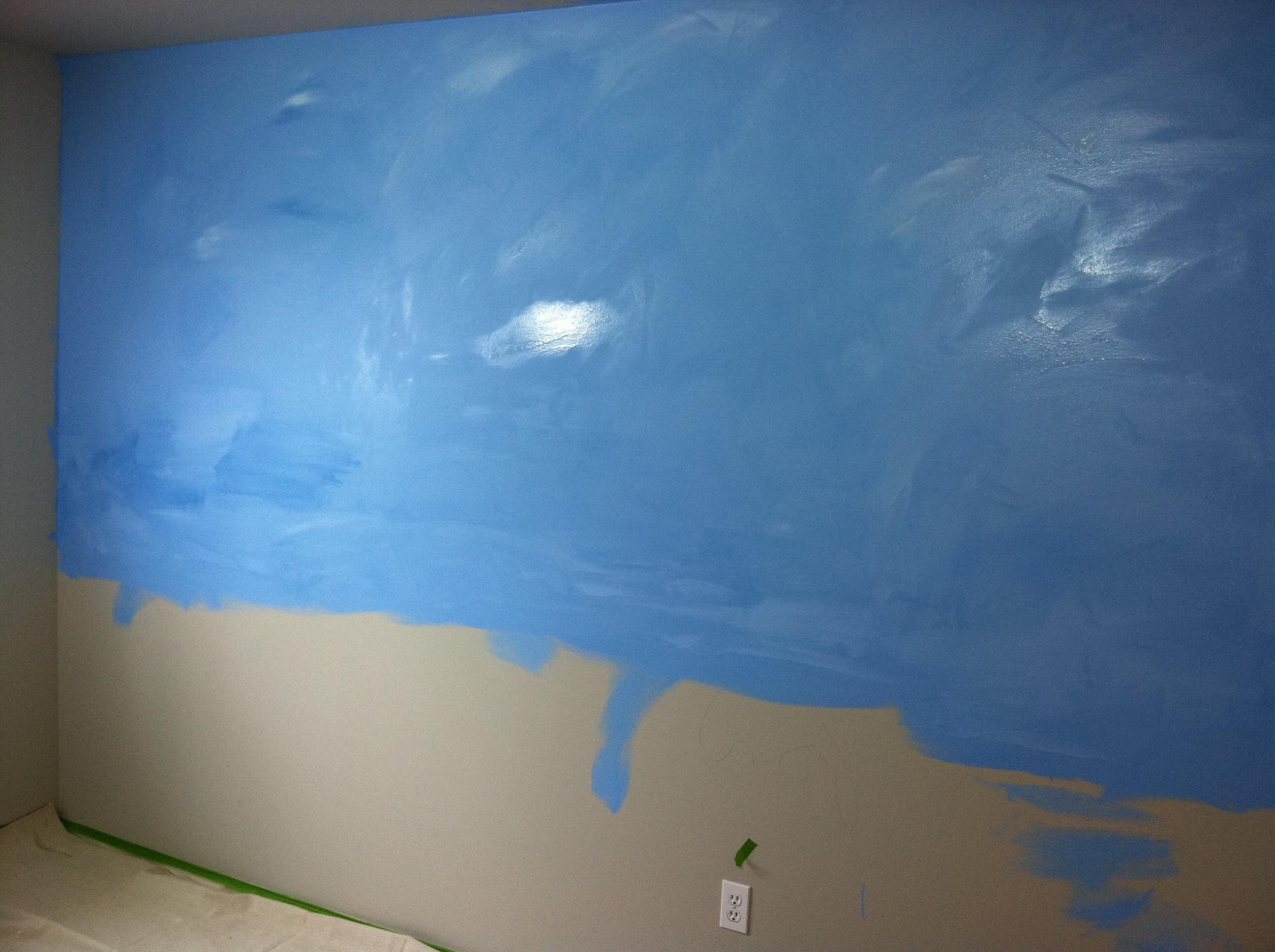 New Projects Liz Geiger Studios - Ocean floor painting